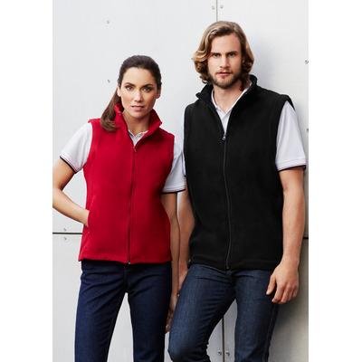 Ladies Plain Microfleece Vest