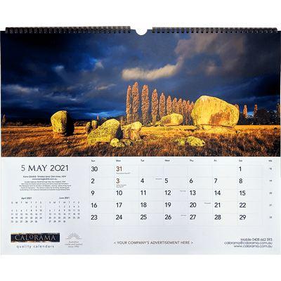 Large Panoramic Wall Calendar