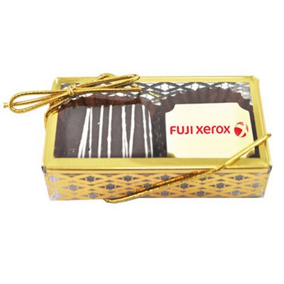 2pc Belgian Chocolate Truffle Box - GOLD STAMPED - (printed with 4 colour(s)) CPBTG2_BC