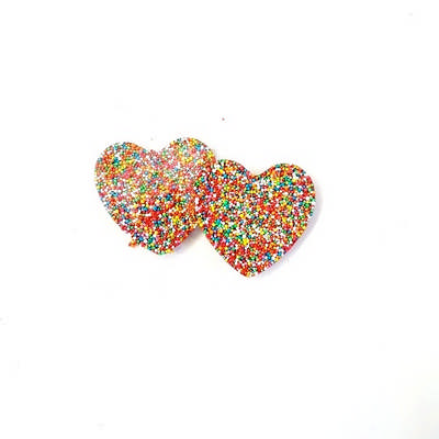 30 gram Chocolate Heart Freckle  - (printed with 1 colour(s)) CPCH21_HRT_BC