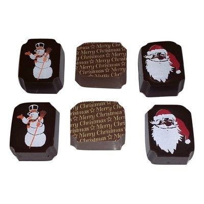 2PC Santa Gift Box with Premium Belgian Chocolate - (printed with 4 colour(s)) CPCHS2X_BC