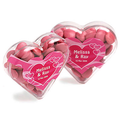 Acrylic Heart Filled with Choc Beans 50G - (printed with 4 colour(s)) CC030B_CONF