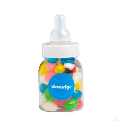 Baby Bottle Filled with Jelly Beans (Mixed or Corp Colours) 50G - (printed with 1 colour(s)) CC065A_CONF