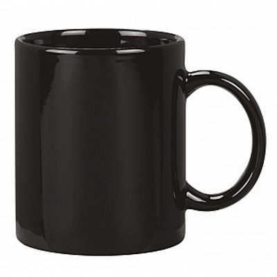 Colonial Ceramic Stoneware Mugs - Black (400120BLK_MAR)