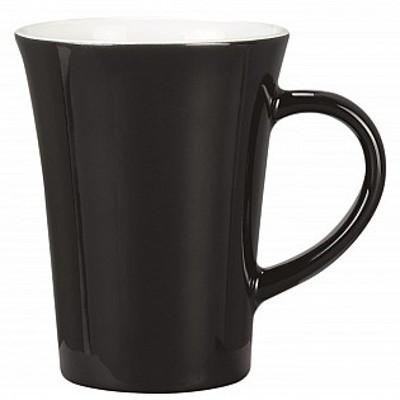 Colonial Ceramic Stoneware Mugs - black/white (400124BKWH_MAR)