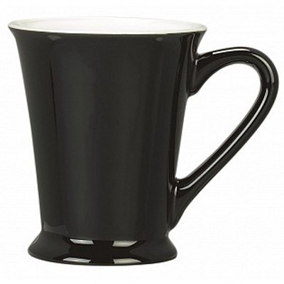 Colonial Ceramic Stoneware Mugs - black/wh gloss (400157BWGL_MAR)