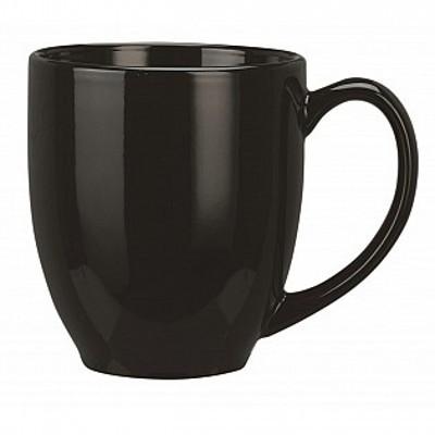 Colonial Ceramic Stoneware Mugs - black (400162BLK_MAR)