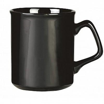 Colonial Ceramic Stoneware Mugs - black (404001BLK2_MAR)