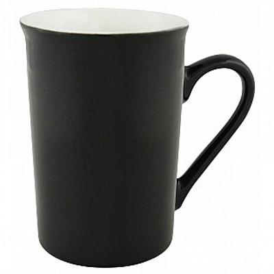 Colonial Ceramic Stoneware Mugs - black/white (410600BKWH_MAR)