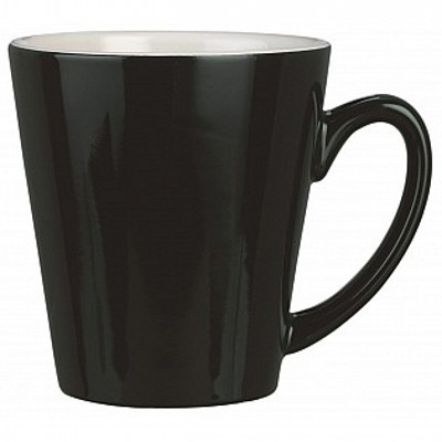 Colonial Ceramic Stoneware Mugs - black/white (455000BWGL_MAR)