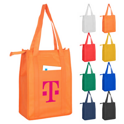 Non Woven Cooler Bag With Top Zip Closure (NWB015_DEX)