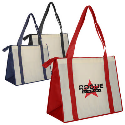 Non Woven Large Zipped Shopping Bag (NWB017_DEX)
