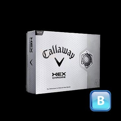 Callaway Hex Chrome - Golf Balls (125CGB-C13-HC-3)