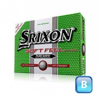 Srixon Soft Feel - 3 ball sleeves - Golf Balls (125CGB-S12-SF-3)