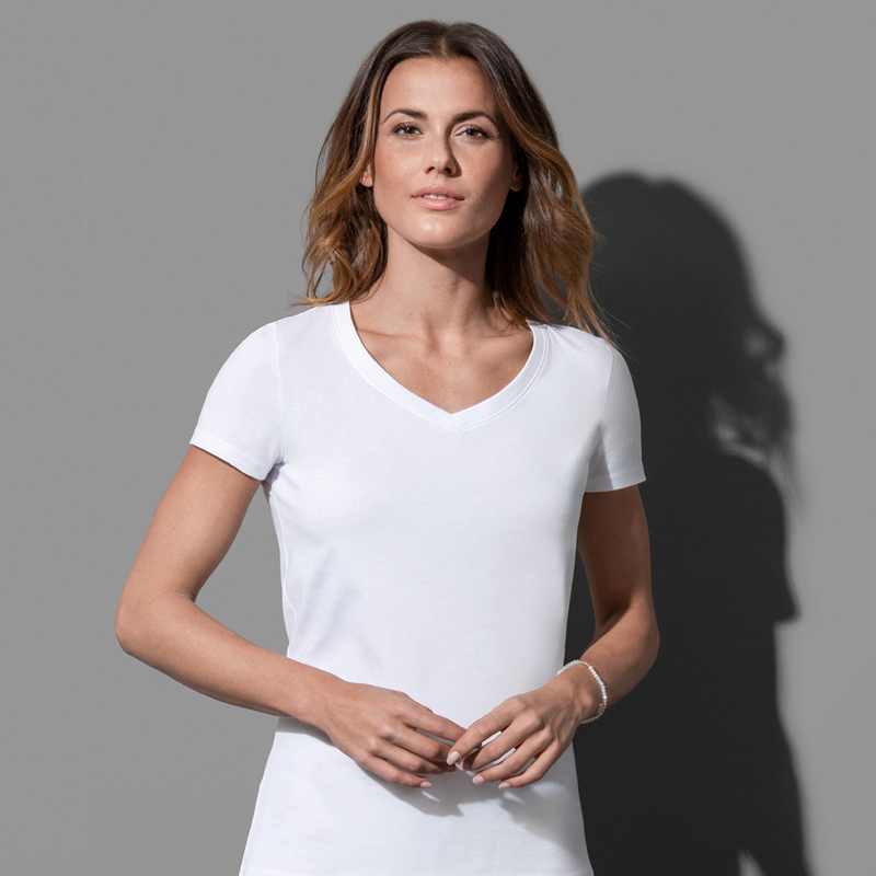 Women`s Organic V-Neck (ST9310_LEGEND)