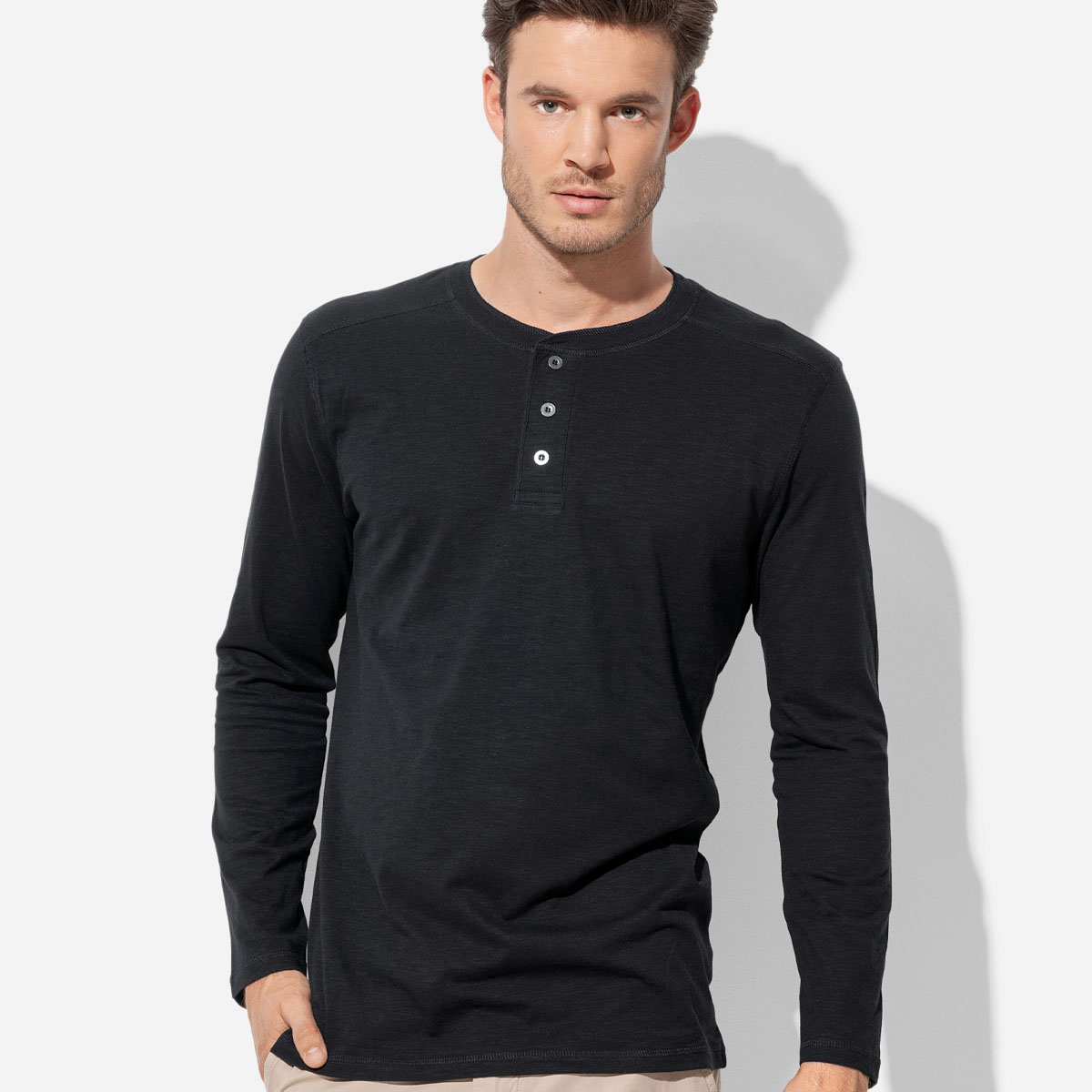 Men`s Henley Long Sleeve (ST9460_LEGEND)