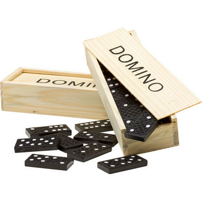Domino game in a wooden box (2546_EURO)
