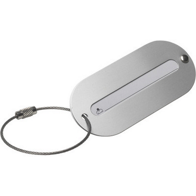 Aluminium luggage tag (3129_EURO)
