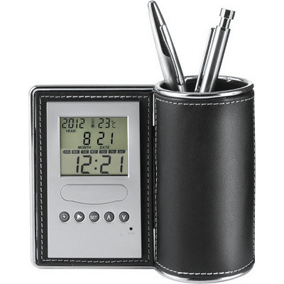 Desk tidy and clock (3685_EUB)