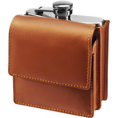 6oz Stainless steel hip flask                       (6871_EURO)