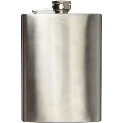 Stainless steel hip flask (320 ml) (7679_EURO)