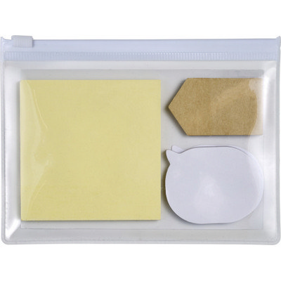 Pouch with 3 types of sticky notes  (7805_EUB)
