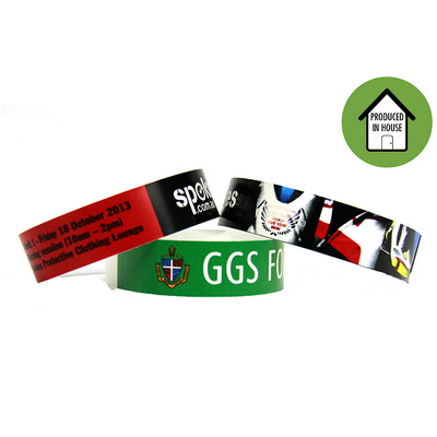 Full Colour Laser Printed Wristbands Local - (printed with 4 colour(s)) EZILASWBFPE_EZIT