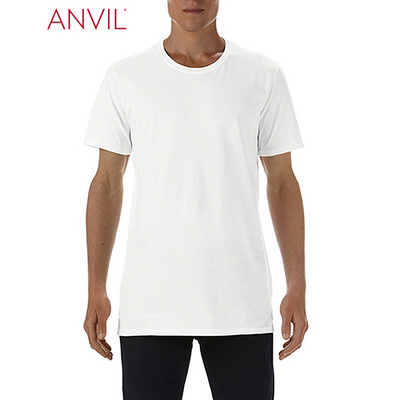 Anvil Adult Lightweight Long and Lean Tee White (5624_WHITE_GILD)