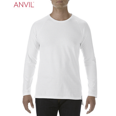 Anvil Adult Lightweight Long and Lean Long Sleeve Tee White (5628_WHITE_GILD)