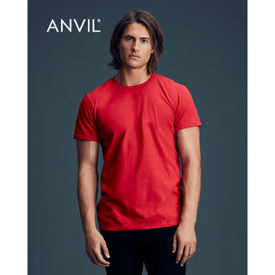 Anvil Adult Black Tee Colours (790_COLOURS_GILD)
