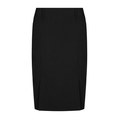 Womens Black Elliot Womens Washable Box Pleat Skirt - Black 1766WSK-Bla_GLO
