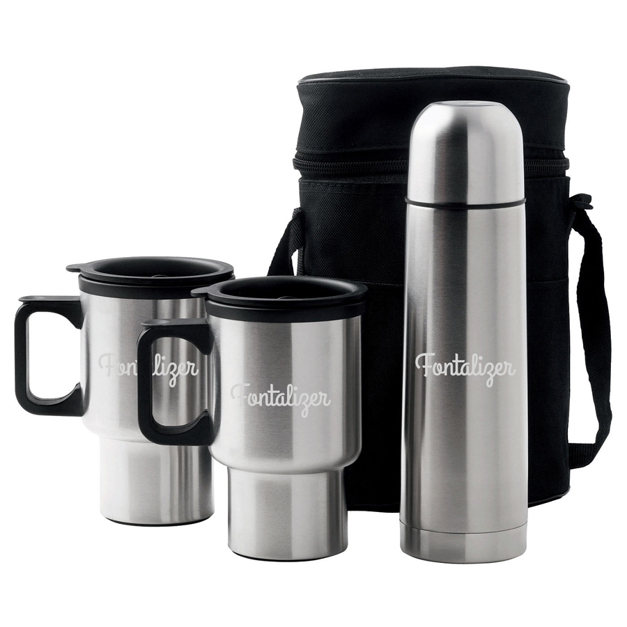 Car Mug/Vacuum Flask Set  (D355 _PB)