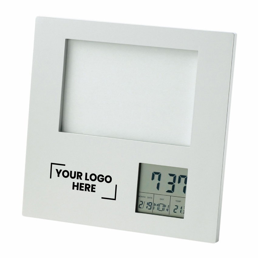 Photo Frame with Clock| Date| Temperature  (D518 _PB)