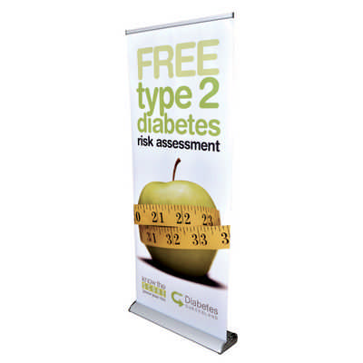 The Deluxe 850mm Roll Up Banner  (RB191-850 _PB)