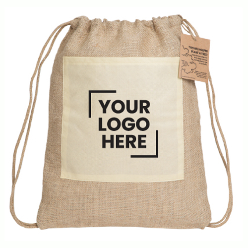 Reforest Jute Drawstring Backpack 10 Day Service - (printed with 1 colour(s)) RB303-10_PB