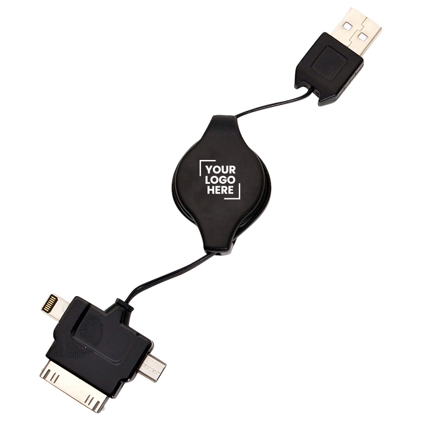 3 in 1 Retractable USB Charger  (T233B _PB)