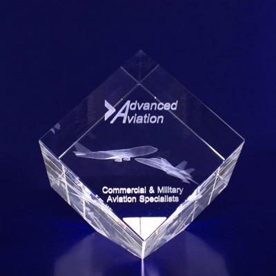 3D Crystal Diamond award / trophy - (printed with 1 colour(s)) D8_IMA3D