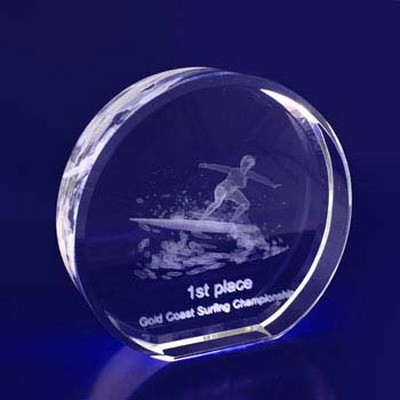3D Crystal Round award / trophy - (printed with 1 colour(s)) RND10_IMA3D