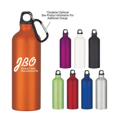 ALUD03 Aluminium Sports Bottle 750ml With Carabiner - (printed with 1 colour(s)) ALUD03_OC