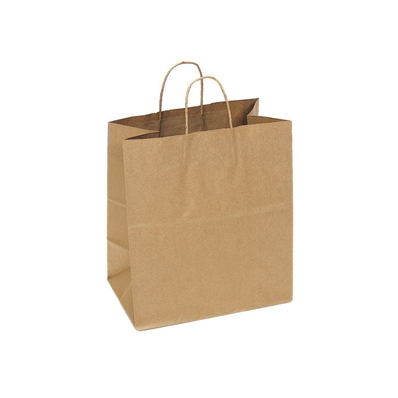 PAPB01KBL Kraft Paper Bag Large Includes Twisted Paper Handle - (printed with 1 colour(s)) PAPB01KBL_OC