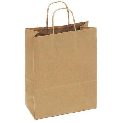 PAPB01KBM Kraft Paper Bag Medium Includes Twisted Paper Handle - (printed with 1 colour(s)) PAPB01KBM_OC