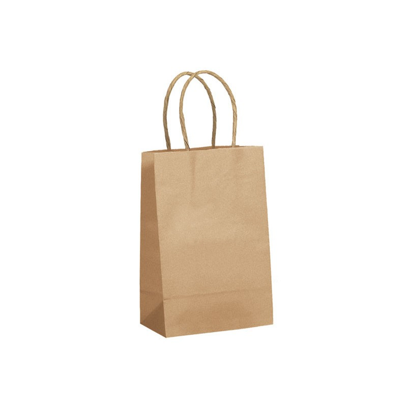 PAPB01KBS Kraft Paper Bag Small Includes Twisted Paper Handle - (printed with 1 colour(s)) PAPB01KBS_OC
