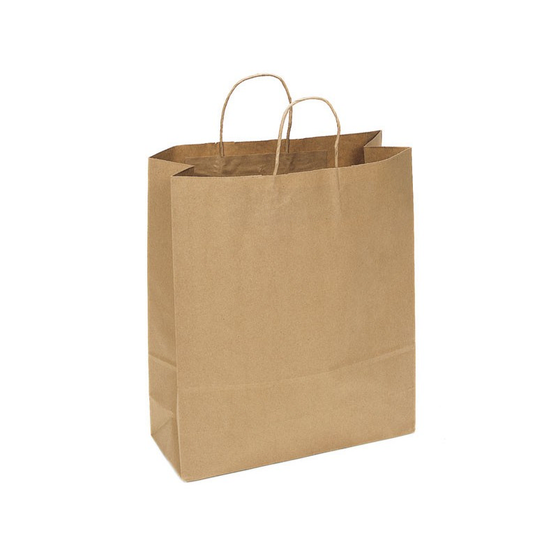 PAPB01KBXL Kraft Paper Bag Extra Large Includes Twisted Paper Handle - (printed with 1 colour(s)) PAPB01KBXL_OC