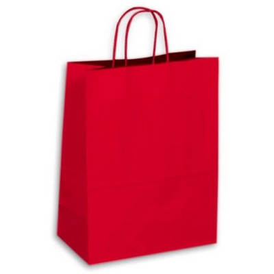PAPB01KCL Kraft Paper Bag Coloured Large Includes Twisted Paper Handle - (printed with 1 colour(s)) PAPB01KCL_OC