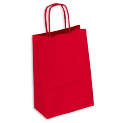 PAPB01KCS Kraft Paper Bag Coloured Small Includes Twisted Paper Handle - (printed with 1 colour(s)) PAPB01KCS_OC