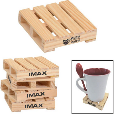 COSD12 Custom Coaster Wood Pallet - (printed with 1 colour(s)) COSD12_OC