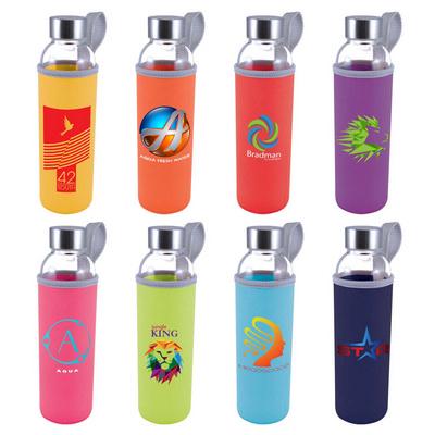 Capri Glass Bottle  Neoprene Sleeve - (printed with 1 colour(s)) LL1398_LLNZ