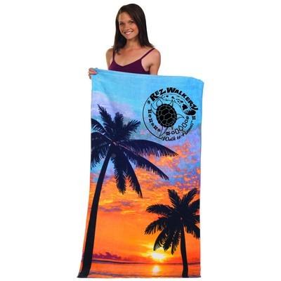 Stock Fibre Reactive Print Beach Towel (BTL-08_QZ)
