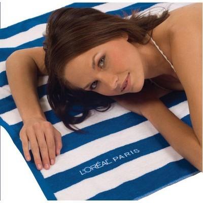 Cabana Striped Loop Terry Beach Towel (BTL-11_QZ)