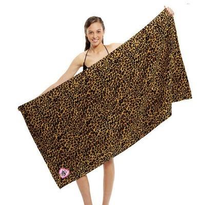 Leopard Print Beach Towel (BTL-12_QZ)